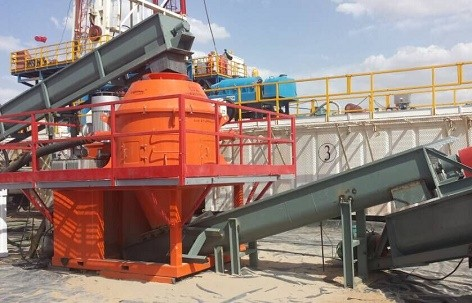 Drilling Waste Cuttings Dryer on site