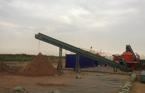 The site of drilling waste treatment