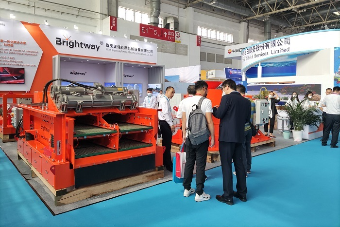 Many viewers at Brightway's booth